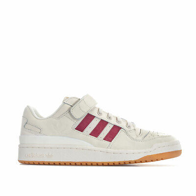 MENS ADIDAS ORIGINALS Forum Low Trainers In White Lace Fastening Hook And Loop