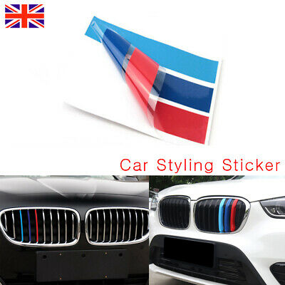 For BMW X5 E53 M3 M5 M6 E39 E46 PVC Front Grill Stripe Decal M Sport Stickers