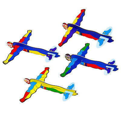 Super Hero Flying Plane Gliders Ideal Party Bag Fillers Children Toy Game Prize