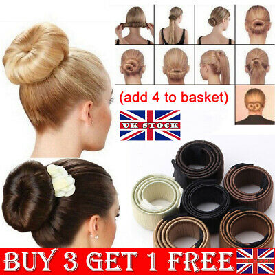 Magic French Twist Hair Bun Maker Band Easy Snap Tool Former DIY Styling Donut G