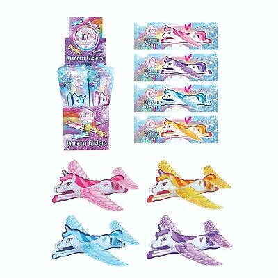 Unicorn  Flying Plane Gliders Ideal Party Bag Fillers Children Toy Game Prizes