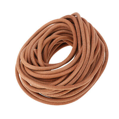 10 Meters Round Leather Roll Cowhide Leather Cord,(5mm, 6mm, 8mm Diameter)