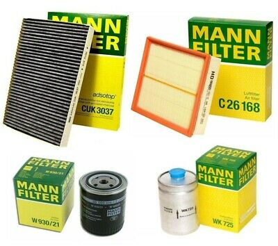 NEW Mann Oil Air Carbon Cabin Filter Service Kit for BMW E53 X5 3.0i M54 01-06