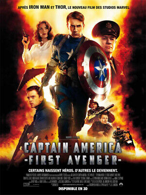 Affiche officiel cinéma du film Marvel CAPTAIN AMERICA FIRST AVENGER