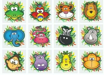 Jungle Animals Temporary Tattoos Ideal Party Bag Fillers Children Toy Game Prize