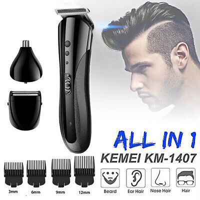 3 in 1 Hair Trimmer Clipper Rechargeable Electric Nose Razor Beard Shaver Comb