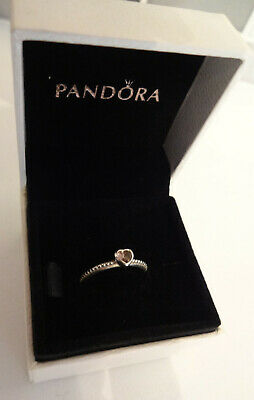 02994ee0f Genuine Pandora Ring With Heart Shaped Cz Stone Sterling Silver And Ale 925  Boxe