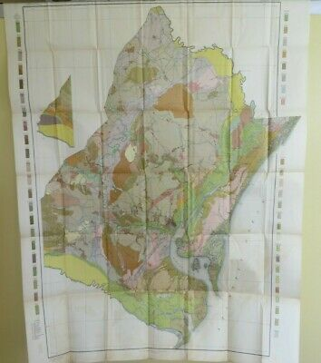 1911 Antique Color Map Georgetown County South Carolina Murrells Pawley #0468