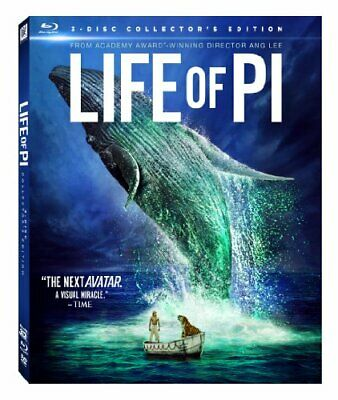 Life of Pi (3-Disc Collector's Edition) 3D Blu-ray + Blu-ray + DVD NEW!