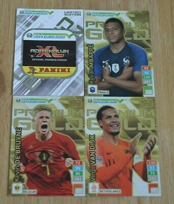 Panini Road to Euro EM 2020 Adrenalyn XL Set 5 - 4x Limited Edition Gold