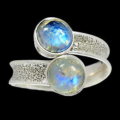 India 925 Sterling Silver Ring Jewelry S.8.5 Ar54452 42r Rainbow Moonstone Fine Jewelry Jewelry & Watches