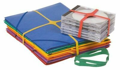 Pack of 100g Q-Connect Assorted X-Bands - 100x11mm