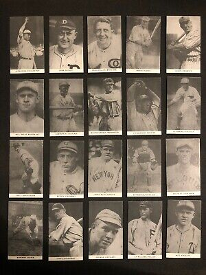 1921 E253 Oxford Confectionary Complete 20 Card Reprint Set Babe Ruth Ty Cobb RP