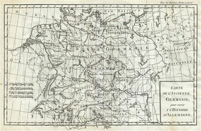 1782 Delisle de Sales Map of Ancient Germany