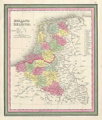 1854 Mitchell Map of Holland and Belgium
