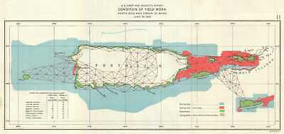 1926 Us Coast And Geodetic Survey Map Of Field Work In Hawaii - Us-geodetic-maps