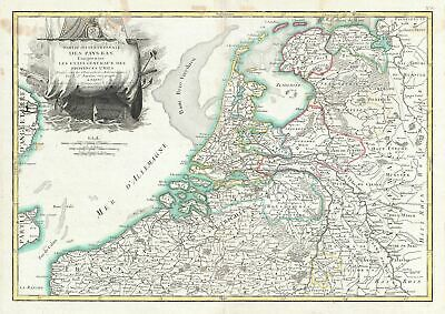 1783 Janvier Map of Holland and Belgium