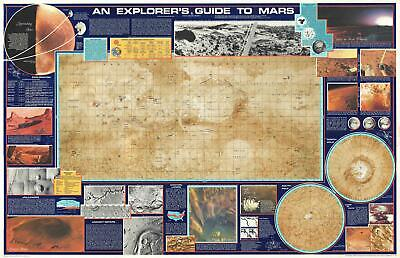 1986 Planetary Society Persuasive Pictorial Map of Mars