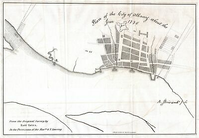 1820 Yates Map of Albany circa 1770
