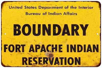 Boundary Fort Apache  Vintage Retro Reproduction 8x12 Metal Sign 108120067048