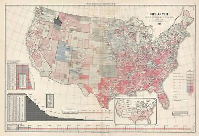 1883 Scribner's Voting Map of the United States