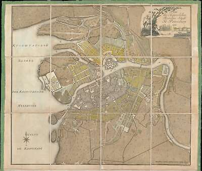 1790 Chudjakov City Map or Plan of St. Petersburg, Russia