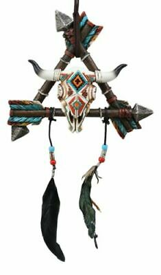 Native Indian 3 Arrows White Buffalo Bison Dream Catcher Wall Hanging Home Decor