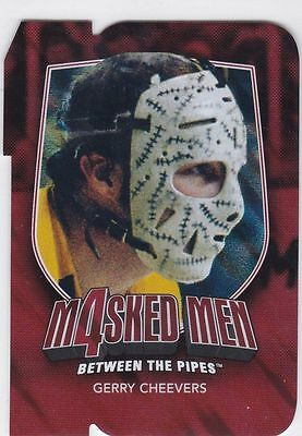 *BOSTON**GERRY CHEEVERS**11-12 Itg Between The Pipes Masked Men 4 Ruby Diecut