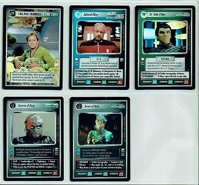Star Trek Ccg Reflections Complete Set Of 5 Box And Case Foils