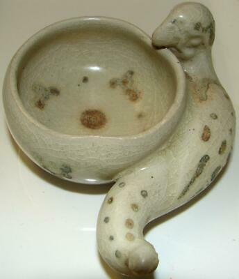 Hoi An Hoard Blue & White Molded Parrot Bowl w/Enameled Decoration 15/16th Cent.