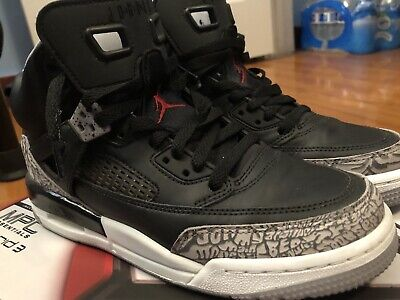 reputable site 013f1 34412 Nike Air Jordan Spizike Black Cement Grey White Red OG Size 6.5