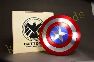 Avengers End Game Captain America Alloy Shield 1:1 Scale Cosplay Collection Gift