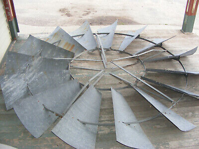 ANTIQUE 8ft ACE Windmill FAN with GEARBOX  U.S WIND ENGINE & PUMP CO.