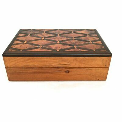 New Vintage Inlaid Wooden Box, Thuya Burl Wood Jewellery Box, Moroccan Trinket