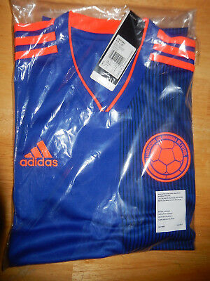 536e82fcb New Columbia 2018 19 away blue football shirt soccer jersey Adidas BNWT M