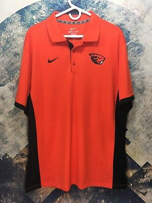 743d045a Nike Dri-Fit Short Sleeve Nike Golf Oregon State Beavers Polo Shirt Men's XL