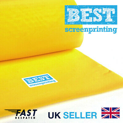 BEST Highest Quality Screen Printing Mesh 77T / US195mesh - YELLOW FAST DELIVERY