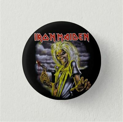 Chapa Pin Badge Button Brooch MUSIC ROCK, POP, HEAVY METAL, IRON MAIDEN