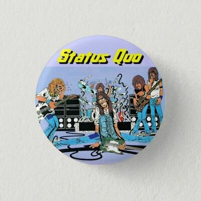 Chapa Pin Badge Button Brooch MUSIC ROCK, POP, HEAVY METAL, STATUS QUO
