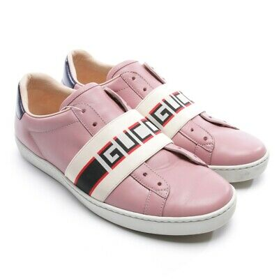 ccca32686f8 BASKETS GUCCI FEMME Cuir Argent Eur 39 1 2 Sneakers Leather Silver ...