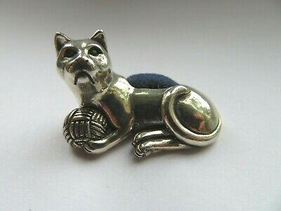 Charming Sterling Silver Cat Pin Cushion