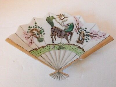 Good Vintage Japanese Porcelain Fan Shaped Dish
