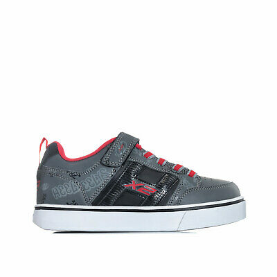 Children Boys Heelys Bolt Skate Shoes in Black Grey