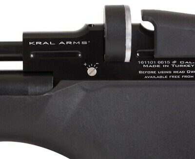 KRAL ARMS PUNCHER Pro PCP Air Rifle Shrouded - 0 177 cal Walnut
