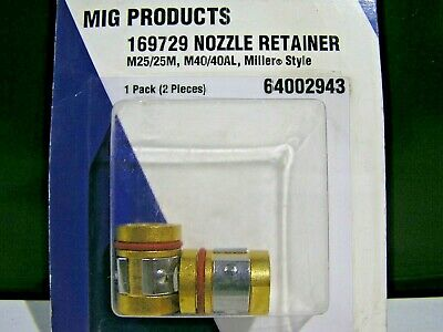 *New Old Stock* Radnor Mig Products 169729 Nozzle Retainer (Lot Of 2)