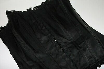 VINTAGE Retro Original PILOT CLUB 1980's Black Lace Trim Corset Bustier #VIN1