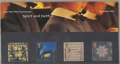 GB 2000 Spirit & Faith presentation pack MNH per scan