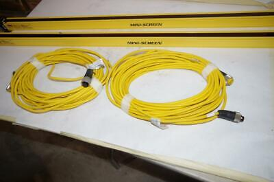 Banner Mini-Screen Light Curtain  Msr4824Y  Mse4824Y  50Ft. Mating Cables Ms200