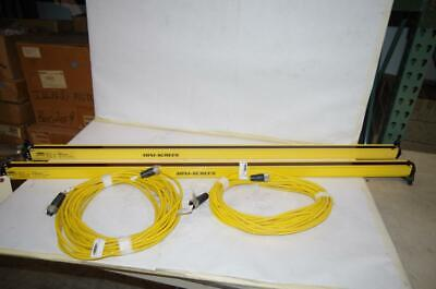 Banner Mini-Screen Light Curtain  Msr4824Y  Mse4824Y  50Ft. Mating Cables Ms202