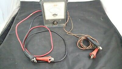 Vintage Commercial Trades Institute VISO Analyzer AM-100 DC Volt & Amperes Meter
